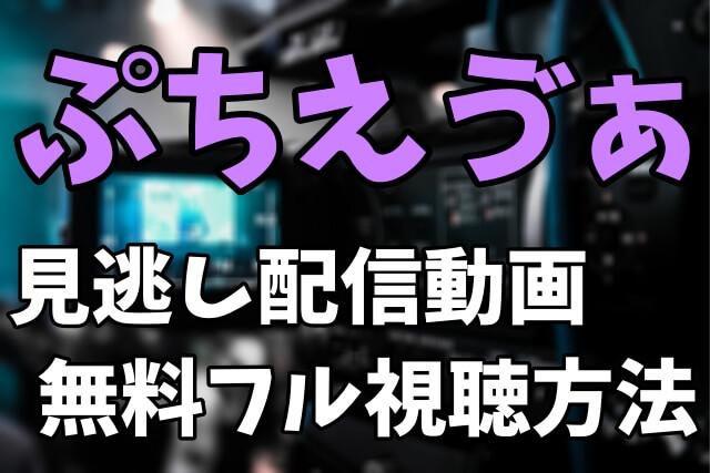 デフォルトアニメ「ぷちえゔぁ」を見逃し配信動画で無料フル視聴する方法