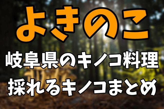 郷土料理「よきのこ」とは?岐阜県のキノコ料理や採れるキノコまとめ!【ナゼそこ】1月14日放送